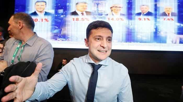 Брифинг Владимира Зеленского по завершению голосования на выборах президента Украины