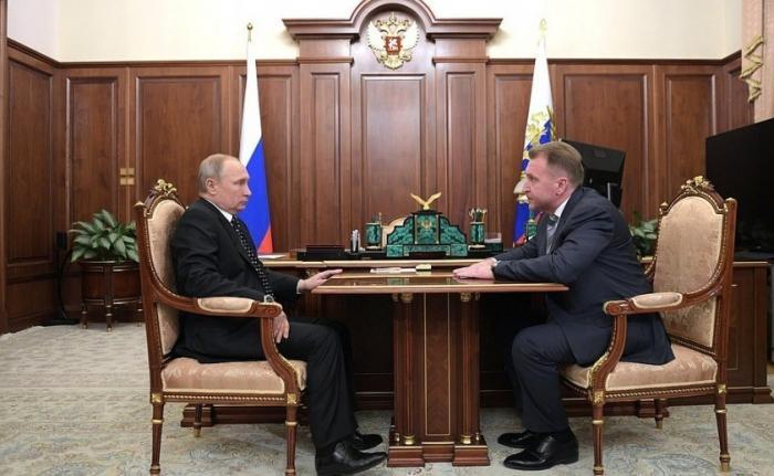 Встреча Путина с Шуваловым, главой госкорпорации развития «ВЭБ.РФ»