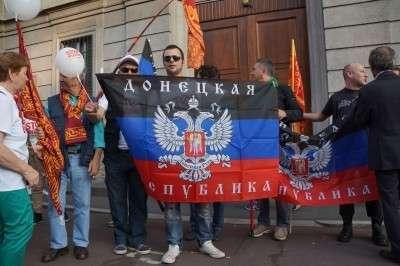 Жители Милана поддержали Россию и Донбасс. (Фоторепортаж)
