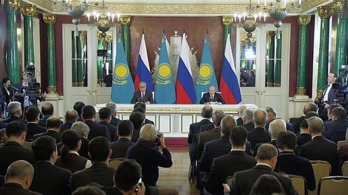 Заявления Владимира Путина и Касым-Жомарта Токаева поитогам российско-казахстанских переговоров