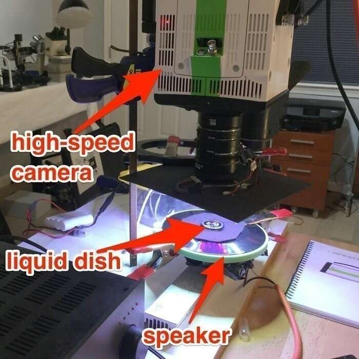 Ученый Линден Гледхилл сфотографировал звук – очень красиво