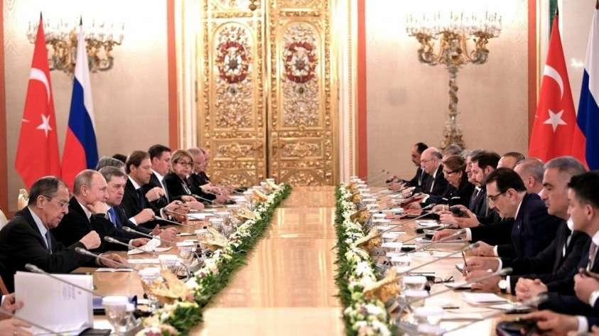 Путин и Эрдоган провели заседание Совета сотрудничества высшего уровня между Россией и Турцией