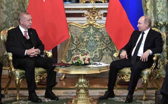 В Кремле проходят переговоры Владимира Путина с Президентом Турции Реджепом Тайипом Эрдоганом