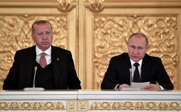 Путин и Эрдоган провели встречу спредставителями бизнеса России иТурции