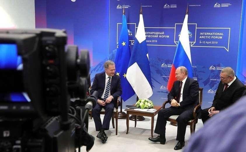 Владимир Путин провёл встречу с Президентом Финляндии Саули Ниинистё