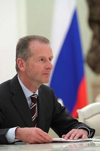Генеральный директор автомобильного концерна «Фольксваген» Герберт Дисс.