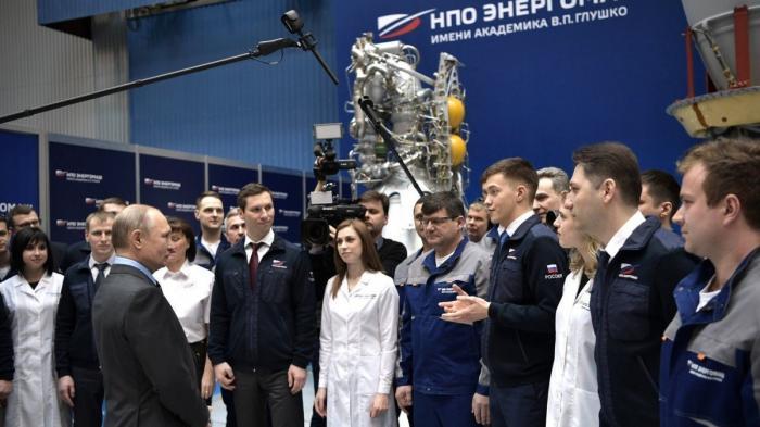 Владимир Путин встретился с работниками научно-производственного объединения «Энергомаш»