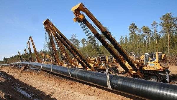Строительство газопровода Сила Сибири. Архивное фото