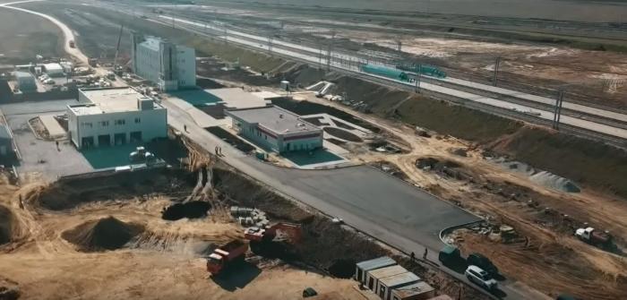 Крым. Строительство железнодорожных станций Керчь-Южная иТамань-Пассажирская