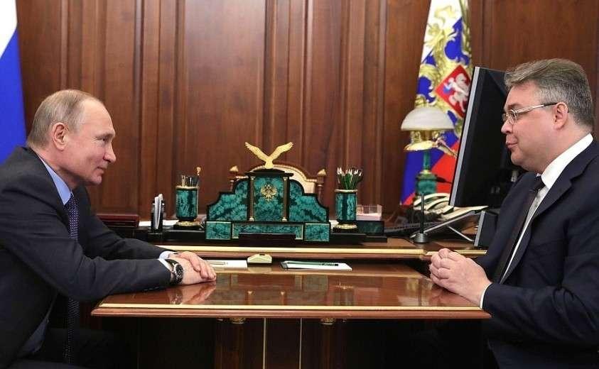 С губернатором Ставропольского края Владимиром Владимировым.