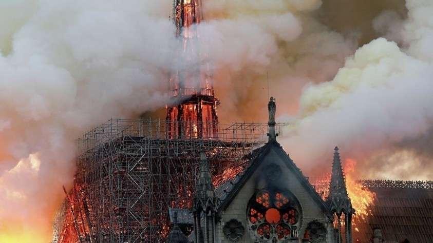 Пожар в Соборе Парижской Богоматери. Прямая трансляция