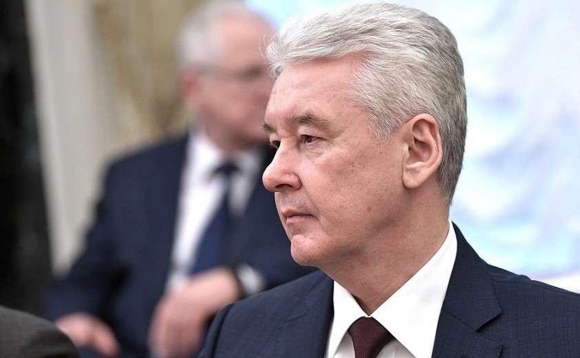 Мэр Москвы Сергей Собянин перед началом расширенного заседания Совета Безопасности.