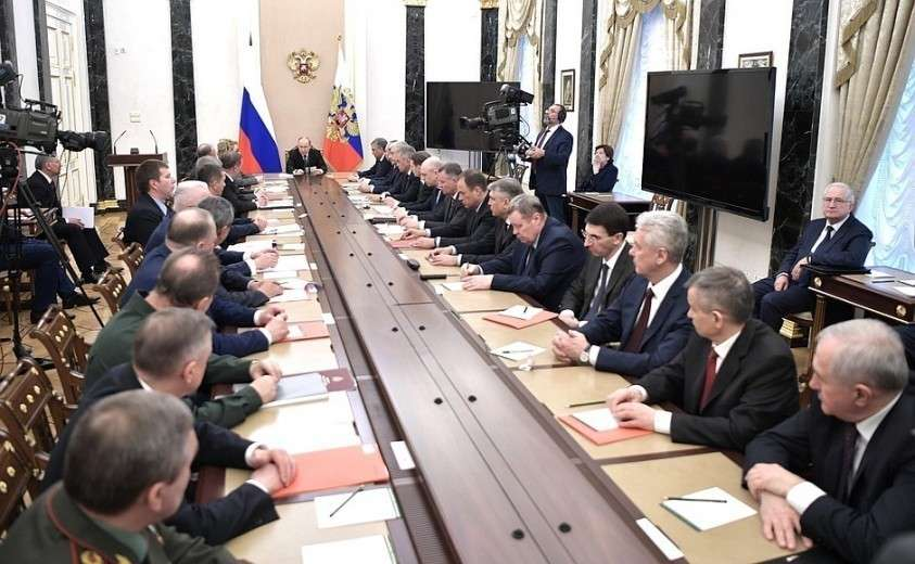 Владимир Путин провёл расширенное заседание Совета Безопасности 16.04.2019.