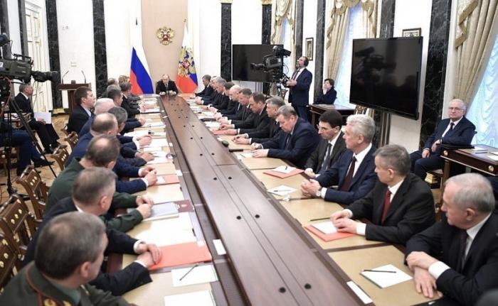 Владимир Путин провёл расширенное заседание Совета Безопасности 16.04.2019