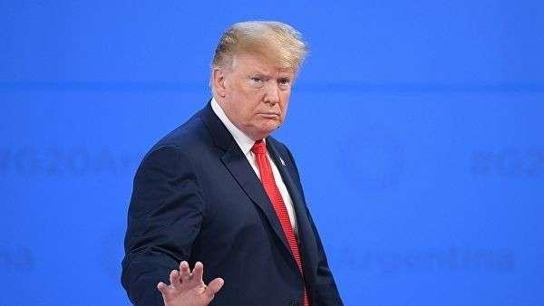 Президент США Дональд Трамп на церемонии встречи глав делегаций государств – участников Группы двадцати. 30 ноября 2018