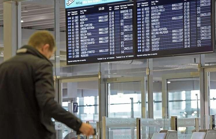 В Германии началась масштабная забастовка пилотов Lufthansa