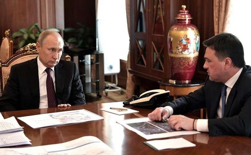 С губернатором Московской области Андреем Воробьёвым.
