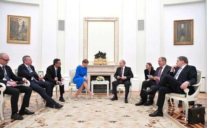Владимир Путин принял в Кремле Президента Эстонии Керсти Кальюлайд