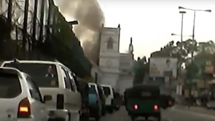 Момент взрыва в церкви Святого Антония на Шри-Ланке попал на видео
