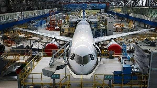 Цех сборки самолета МС-21-300