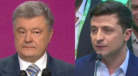 Зеленский и Порошенко выступили с первыми заявлениями после выборов