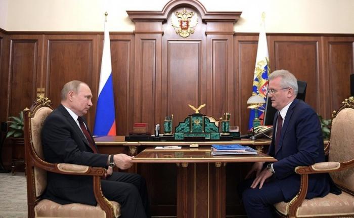 Владимир Путин встретился сгубернатором Пензенской области Иваном Белозерцевым