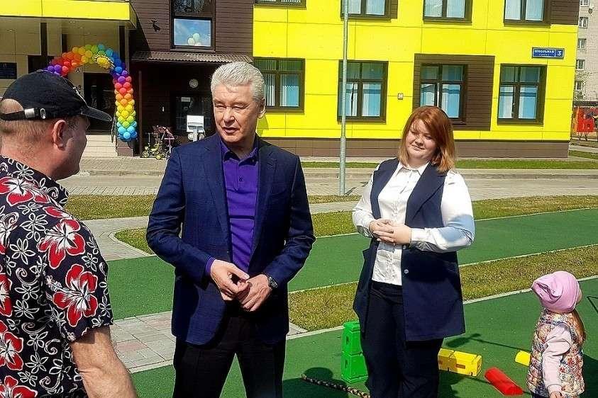 Открытие нового детсадика посетил мэр Сергей Собянин.