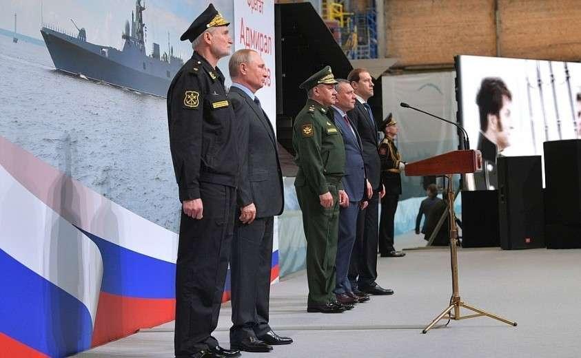 Торжественная церемония закладки на «Северной верфи» двух серийных фрегатов проекта 22 350 – «Адмирал Амелько» и «Адмирал Чичагов».