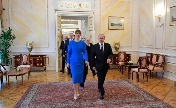 После визита к Путину президент Эстонии Керсти Кальюлайд не на шутку осмелела!