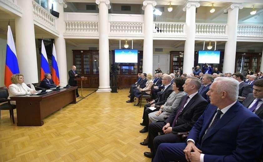 Владимир Путин встретился с членами Совета законодателей