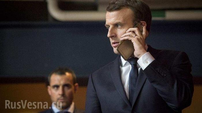 Макрон признался пранкерам, что Порошенко разжигал рознь внутри Украины и мешал единению Европы