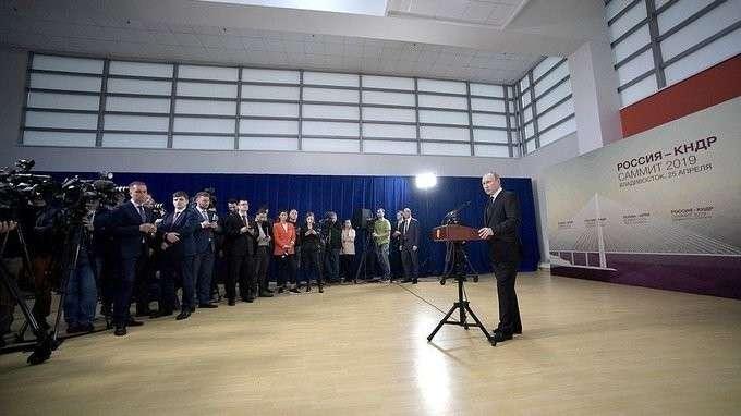 Пресс-конференция по итогам российско-северокорейских переговоров