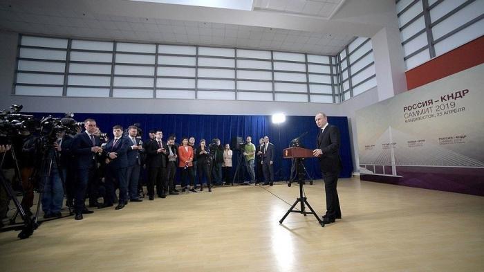 Владимир Путин и Ким Чен Ын ответили на вопросы представителей СМИ