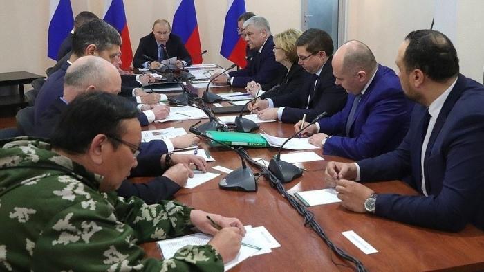 Владимир Путин провёл совещание о ситуации с пожарами в Забайкальском крае