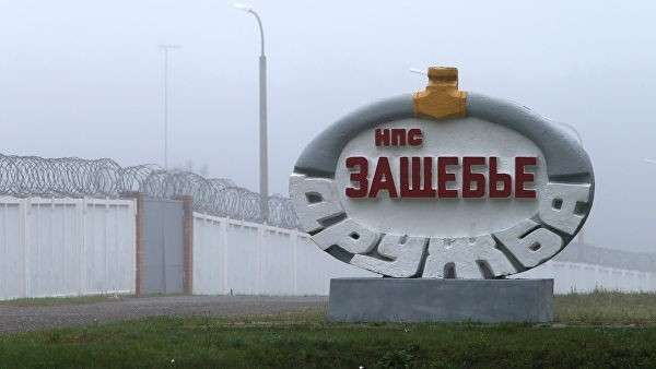 Символ нефтепровода Дружба в Гомельской области Белоруссии. Архивное фото