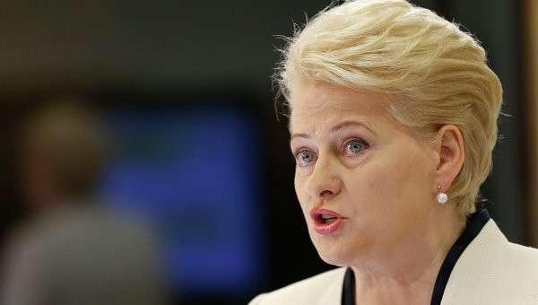 Президент Литвы Дали Грибаускайте
