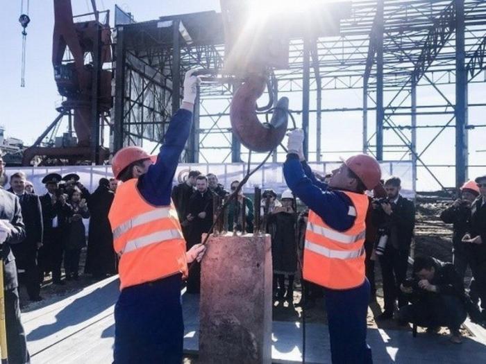 ВЯкутии началось строительство новой судоверфи для модернизации арктического пароходства