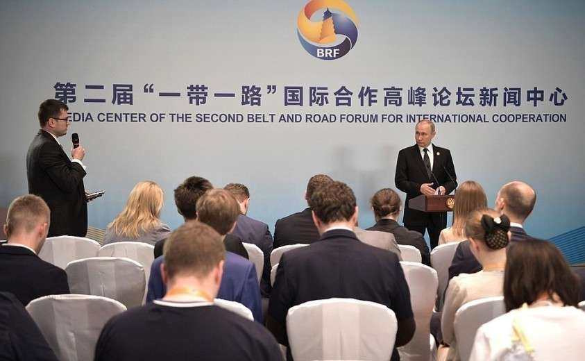 На пресс-конференции по итогам рабочего визита в Китай.
