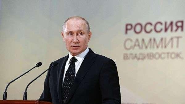Президент РФ Владимир Путин на пресс-конференции по итогам российско-корейских переговоров. 25 апреля 2019