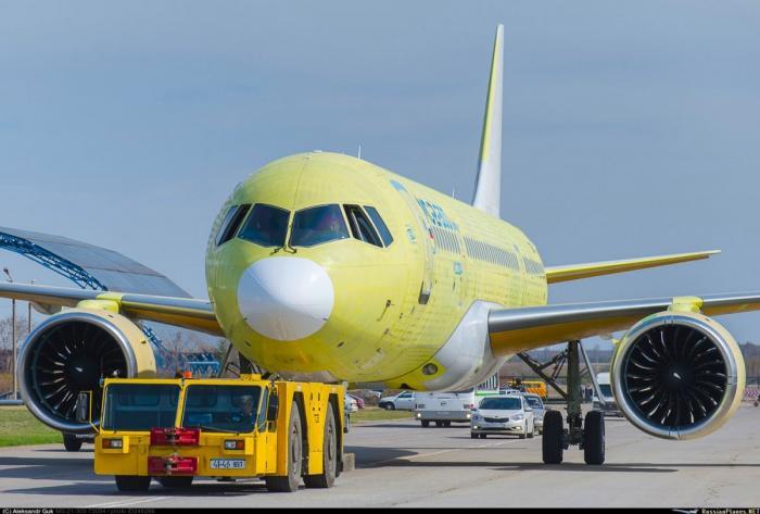 ИзИркутска вУльяновск совершил перелет третий летный образец МС-21-300