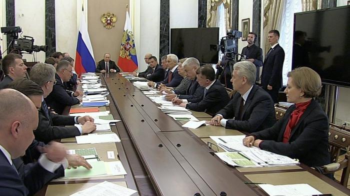 Владимир Путин провёл совещание с членами Правительства Российской Федерации