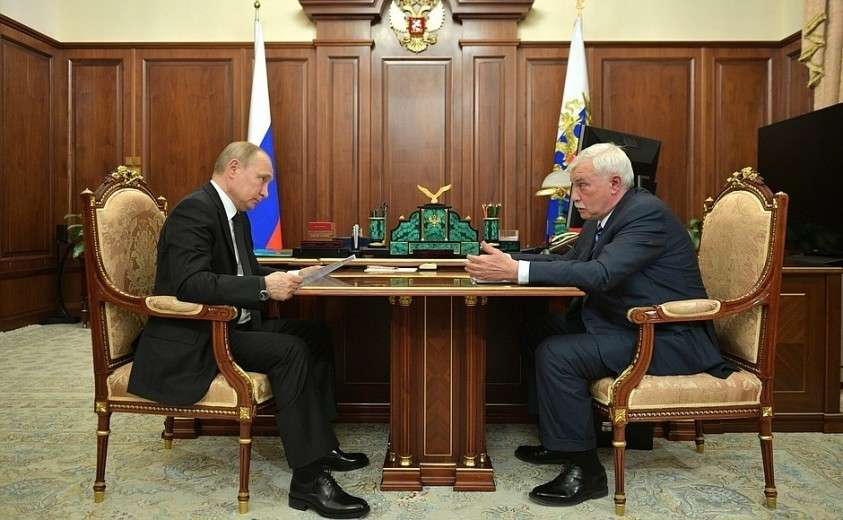 Встреча с главой «Объединённой судостроительной корпорации» Георгием Полтавченко.