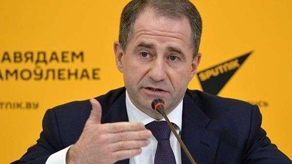 Посол России в Белоруссии Михаил Бабич на пресс-конференции в Минске