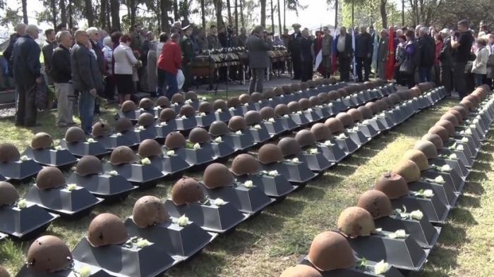 В Латвии перезахоронили останки 275 русских солдат, погибших в Великую Отечественную войну