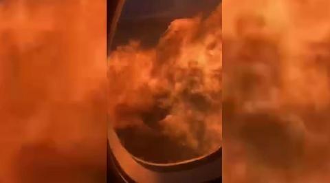 Пассажиры «Суперджета» сняли на видео начало пожара на борту