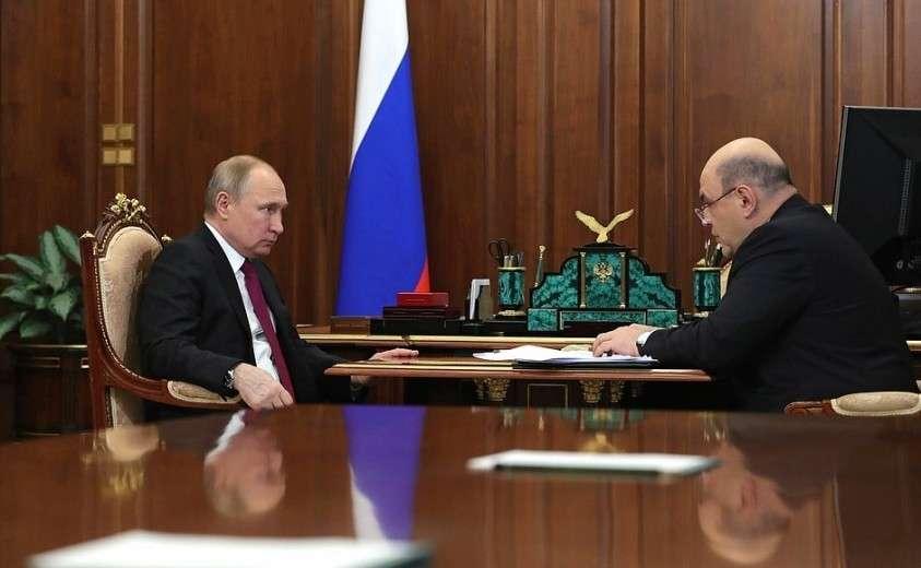Рабочая встреча с руководителем Федеральной налоговой службы Михаилом Мишустиным.