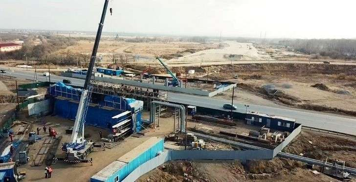 Ход строительства транспортного обхода Хабаровска