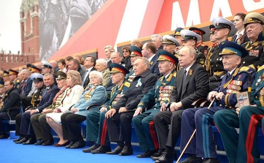На Параде Победы в ознаменование 74-й годовщины Победы в Великой Отечественной войне.