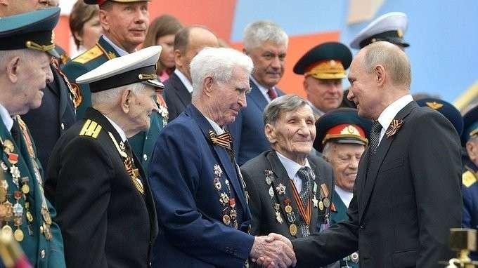 Выступление на Параде Победы