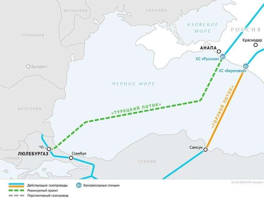 Турецкий поток введут в эксплуатацию к концу 2019 года